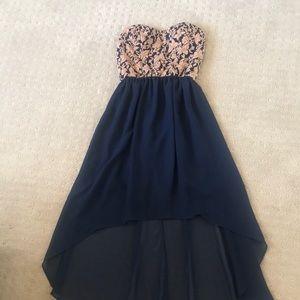 High - Low Strapless dress